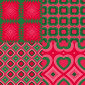 Set of fantasy abstract seamless pattern.