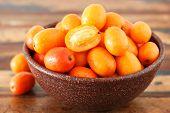 Fruit Jocote (red Mombin, Purple Mombin, Hog Plum, Ciruela Huesito, Sineguela,  Siriguela) In Brown
