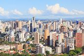 Panoramic View Of City Center, Buildings, Hotels, Curitiba, Parana, Brazil
