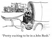 picture of carriage horse  - Cartoon of two businessmen in carriage with horses - JPG