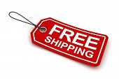 Free shipping tag, 3d render