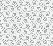 Geometrical Ornament With White Zig-zags On White Background