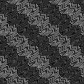 Repeating Ornament Diagonal Light And Dark Gray Wavy