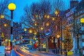 Hampstead-London Christmas Twilight