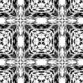 Fantasy abstract seamless pattern made with ink.