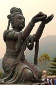 "foto of morals  - six bronze statues known as ""The Offering of the Six Devas"", symbolise charity, morality, patience, zeal, meditation, and wisdom, all of which are necessary to enter into nirvana, Po Lin Monastery, Lantau Island, Hong Kong
