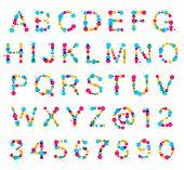 ABC alphabet made of blot spots