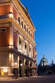 image of wieners  - Wiener Musikverein at evening famous concert hall and landmark of Vienna - JPG