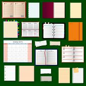 collection of vector notebooks