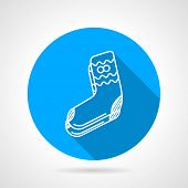 Knitted socks flat vector icon