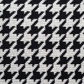 Black and white knitted Houndstooth pattern