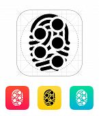 Fingerprint loop type scan icon.