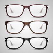 Transparent glasses. Vector