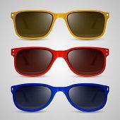 Sunglasses color. Vector