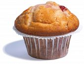 Tasty, Cherry Muffin On A White Background