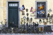 Shop for art objects in wrought iron. Color image