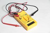 picture of multimeter  - yellow multimeter tester to test electric equipment - JPG