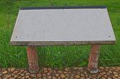 blank billboard in the public park