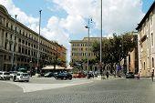 View Of Rome City Piazza Della Reppublica On June 1, 2014