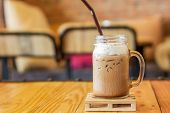 Iced Caffe Mocha With Milk Foam