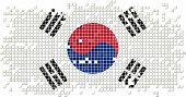 South Korea grunge tile flag. Vector illustration