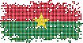 Burkina Faso grunge tile flag. Vector illustration