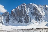 Northern face of Free Korea Peak Ala Archa National Park (Kyrgyzstan)