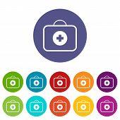 Medic bag flat icon