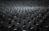Gravestones black and white