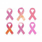 Cancer Pink Ribbons Set
