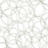 Gray overlapping  circles seamless pattern. Light circles simple background. Vector