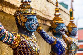 image of garuda  - Garuda statues in the Grand Palace - JPG