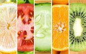 image of vegetable food fruit  - Healthy food background - JPG