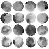 image of significant  - Watercolor Grey Circles Big Set - JPG