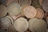 stock photo of coins  - Coins background euro coins cent coins euro cents - JPG