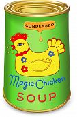 image of condensation  - Can of condensed Magic chicken soup - JPG
