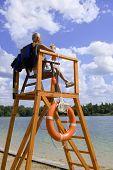 image of lifeguard  - Kiev Ukraine 2015 May 1 - JPG