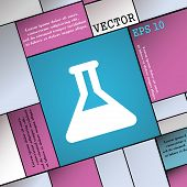 pic of conic  - Conical Flask icon sign - JPG