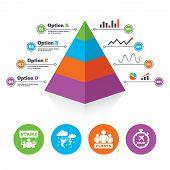 stock photo of striking  - Pyramid chart template - JPG