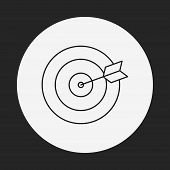 pic of archery  - Archery Line Icon - JPG
