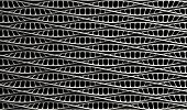 picture of microscopic  - A microscopic view of asequenced pattern of DNA styled strands in a generic white color on an isolated background - JPG
