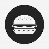 foto of hamburger  - Hamburger Icon - JPG