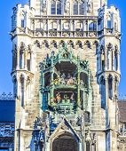 stock photo of chimes  - chimes in munich city hall and facade - JPG
