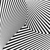 stock photo of distortion  - Design monochrome triangle movement illusion background - JPG