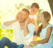 picture of mood  - Happy joyful young family father - JPG