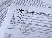 image of lien  - form 1040 personal income tax reporting form - JPG