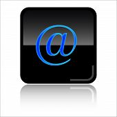 Mail adress glossy web icon