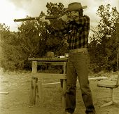 Old Cowboy Shooting