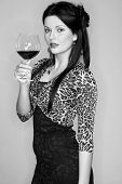 Young Lady With Wineglass