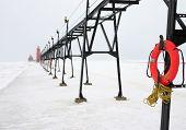 Lifebuoy In Winter